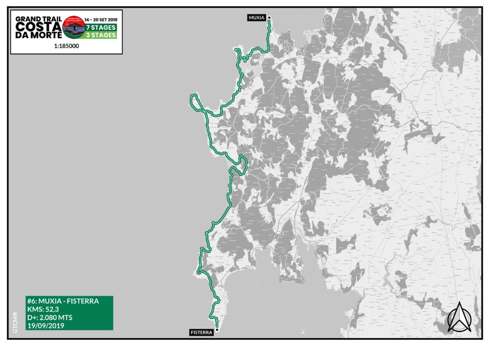Mapa etapa 6  Muxía - Fisterra